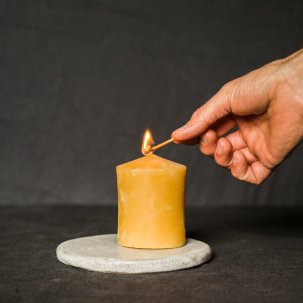 nobelhart at home with beeswax candle