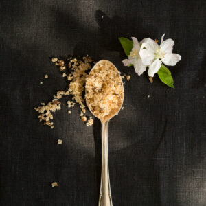 blossom sugar on a spoon