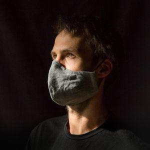Mundnasenschutz von Jay Matthew Barry in hellgrau