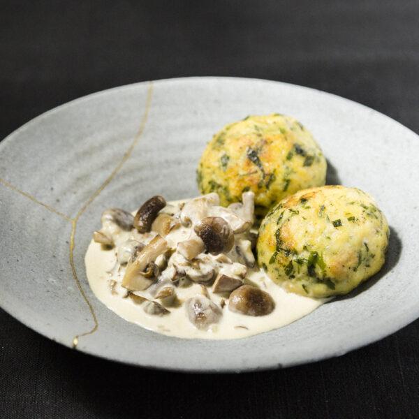 vegetarian ragout with mushrooms