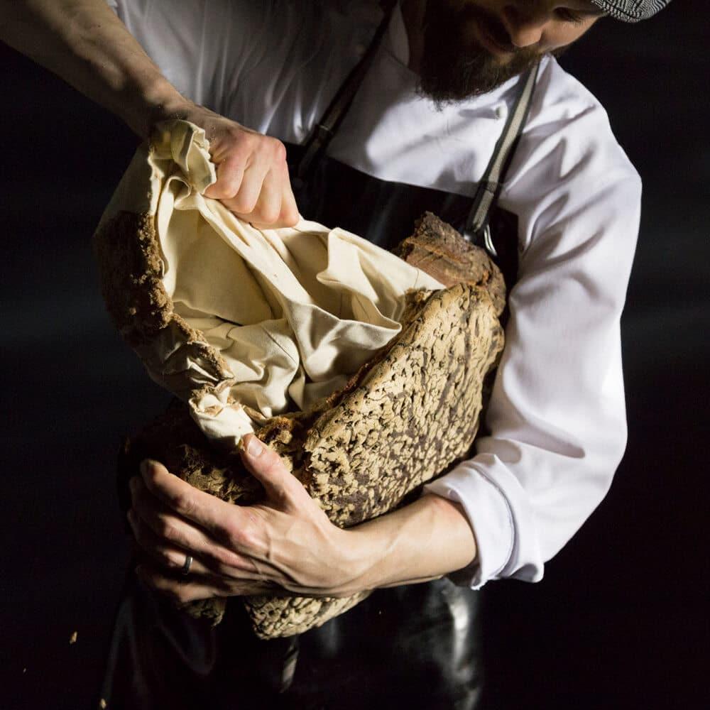 pic 4 of 7 Unboxing Frank Leder shirt in a bread loaf