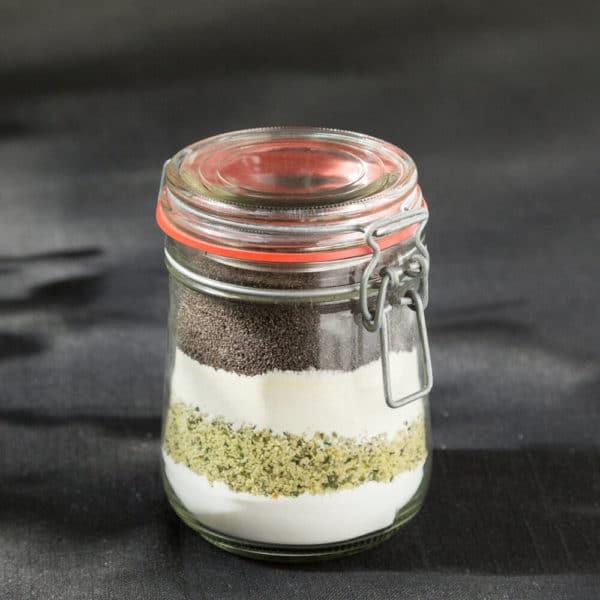 Mohnkuchen zum selber backen im Glas