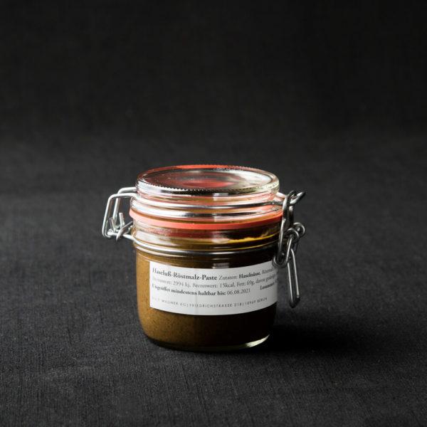grass of hazelnut and roast malt spread