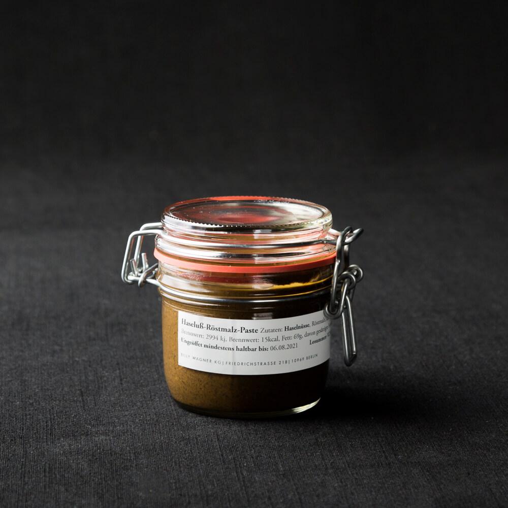 Haselnuss Röstmalz Paste im 220 ml Glas